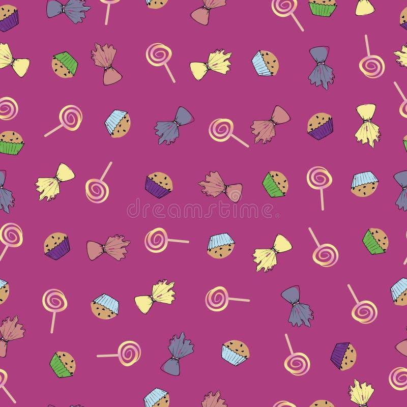 Bonbons sur une lavande photos stock