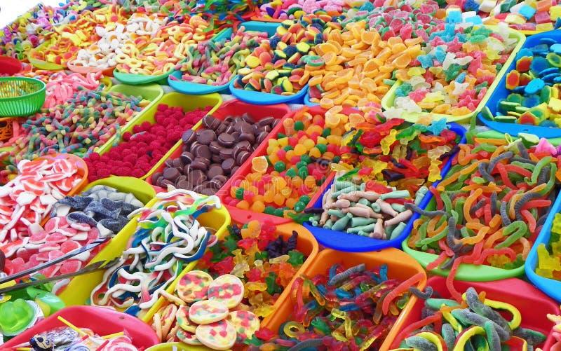 Bonbons traditionnels pour la c?l?bration catholique de Corpus Christi, Equateur image stock