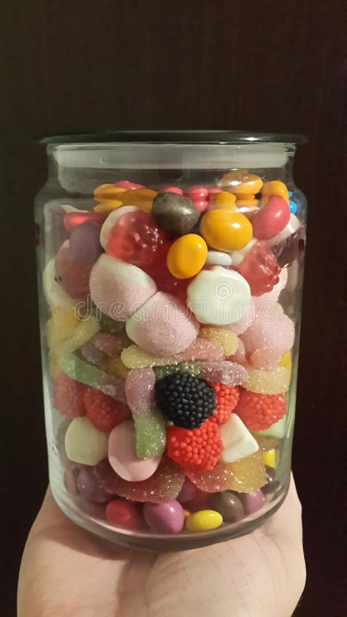 Bonbons und Süßigkeit stockfotografie