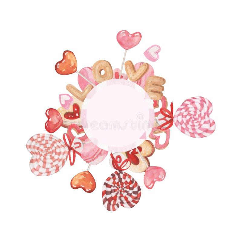 Bonbons valentine1 illustration de vecteur