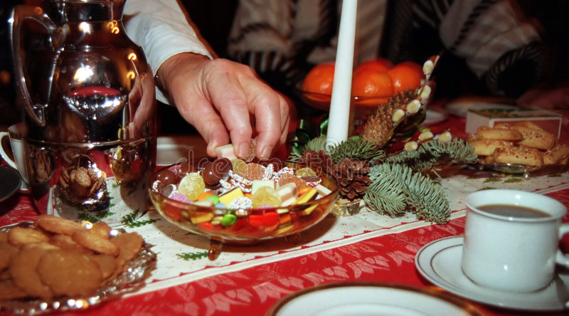 Bonbons an Weihnachten lizenzfreies stockbild