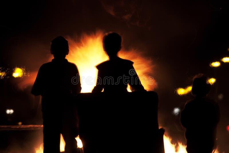 bonbrand arkivbild