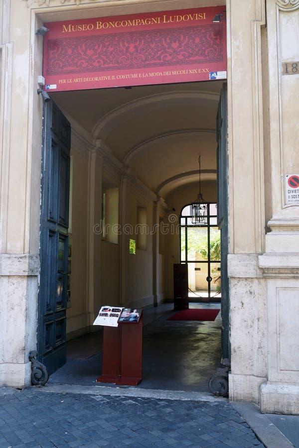 Boncompagni Ludovisi Dekoracyjnych sztuk muzeum w Rzym, Włochy obrazy stock