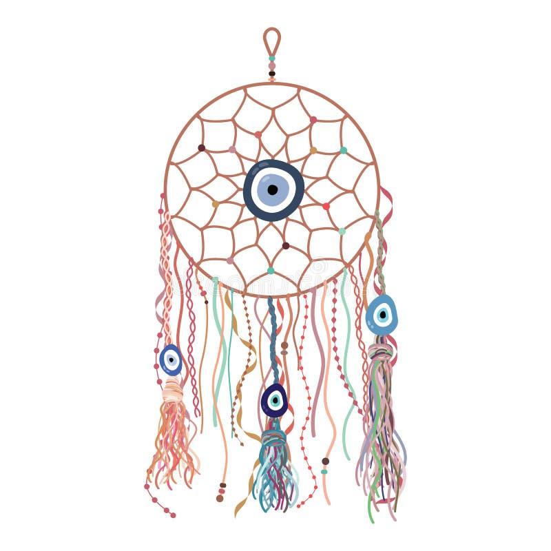 Boncuk perle le bohémien illustration de vecteur