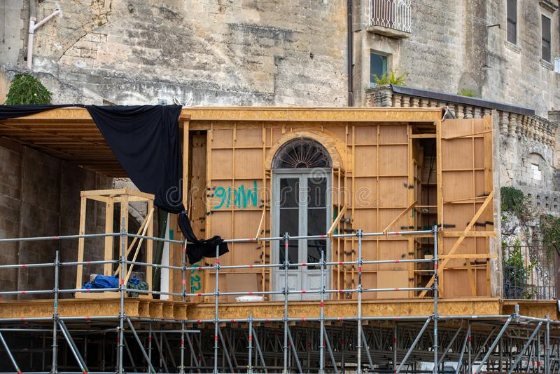 Bond appartement du film 'No Time to Die' à Sassi, Matera, Italie images stock