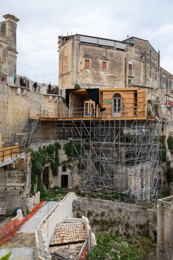 Bond appartement du film 'No Time to Die' à Sassi, Matera, Italie image libre de droits