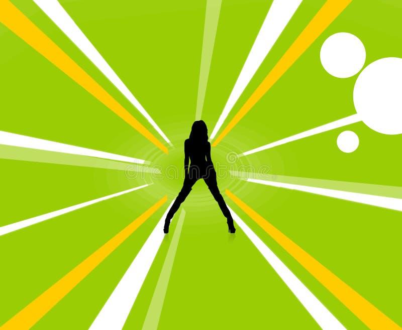 Bond Girl stock illustration