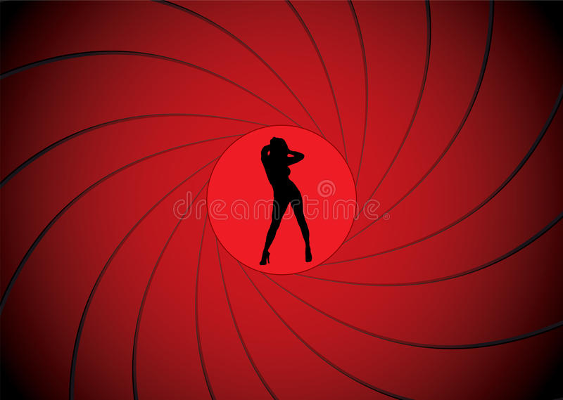 Bond gun barrel royalty free illustration
