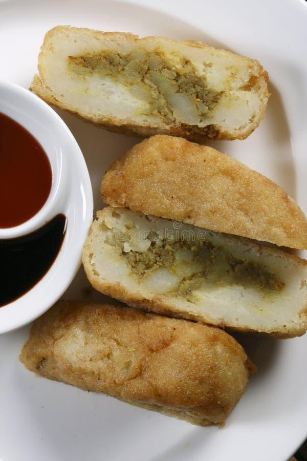 Bonda is een typische Zuiden Indische snack. royalty-vrije stock afbeelding
