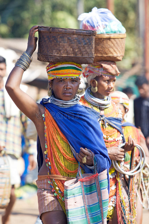 Bonda Tribal Woman Editorial Stock Photo