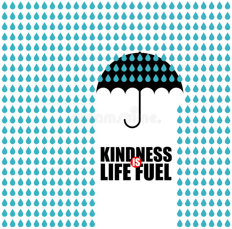 A bondade é combustível da vida ilustração stock