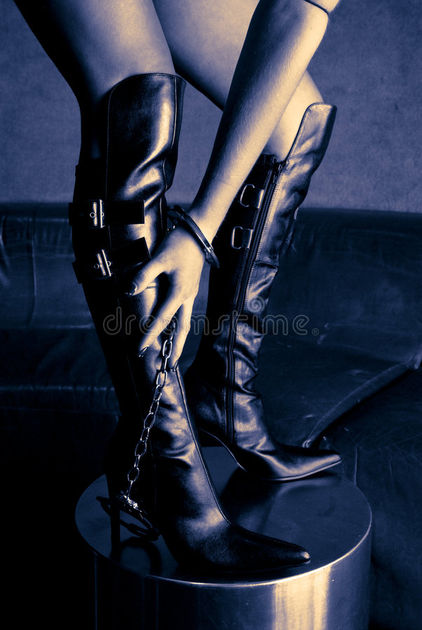 Bondage boots stock photo