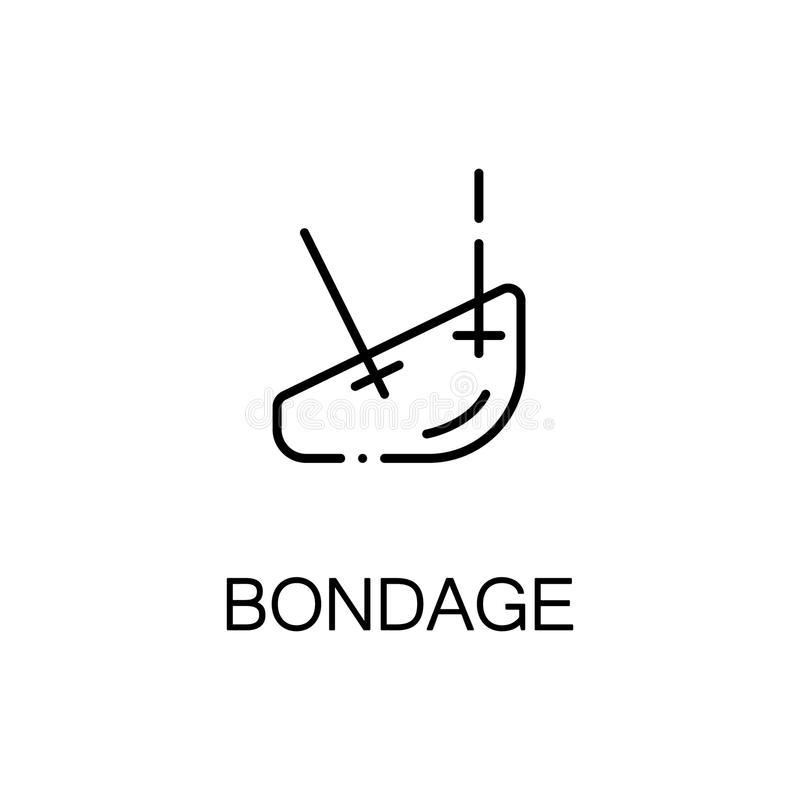 Bondage flat icon or logo for web design. Bondage flat icon. High quality outline symbol of medical euipment for web design or mobile app. Thin line signs of royalty free illustration