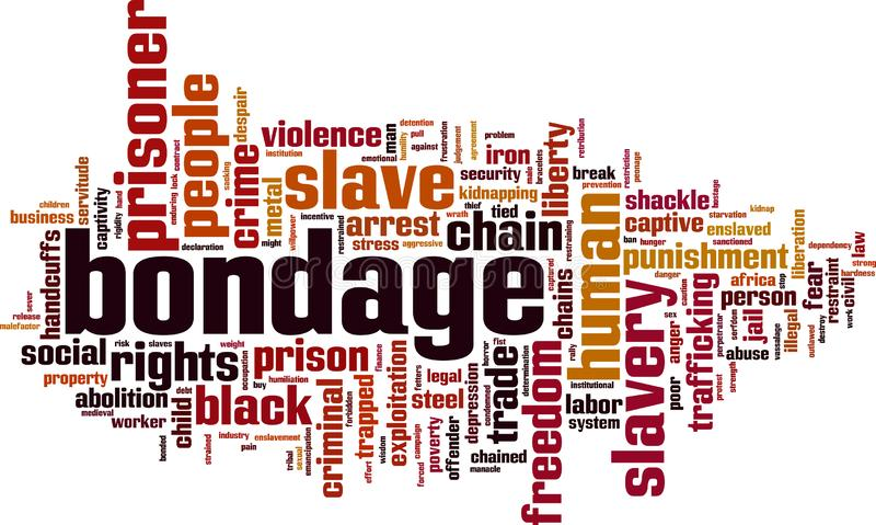 Bondage word cloud. Concept. Vector illustration royalty free illustration