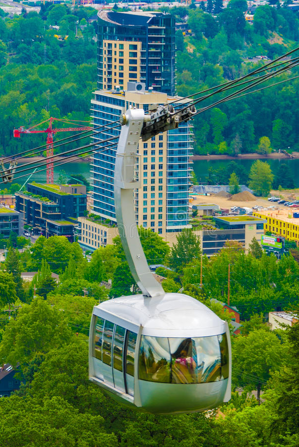 Bonde da antena de Portland fotos de stock royalty free