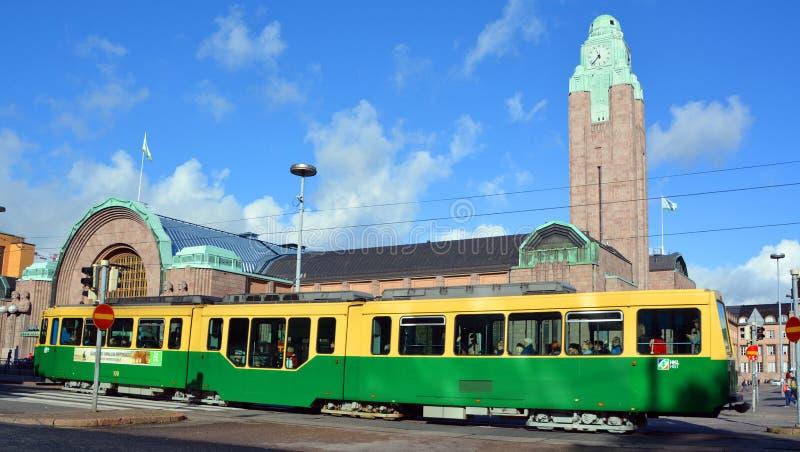 Bonde de Helsínquia do transporte público imagens de stock royalty free