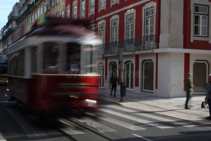Bonde do vermelho de Lisboa imagem de stock royalty free