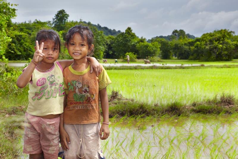 Bonde Laos royaltyfria bilder