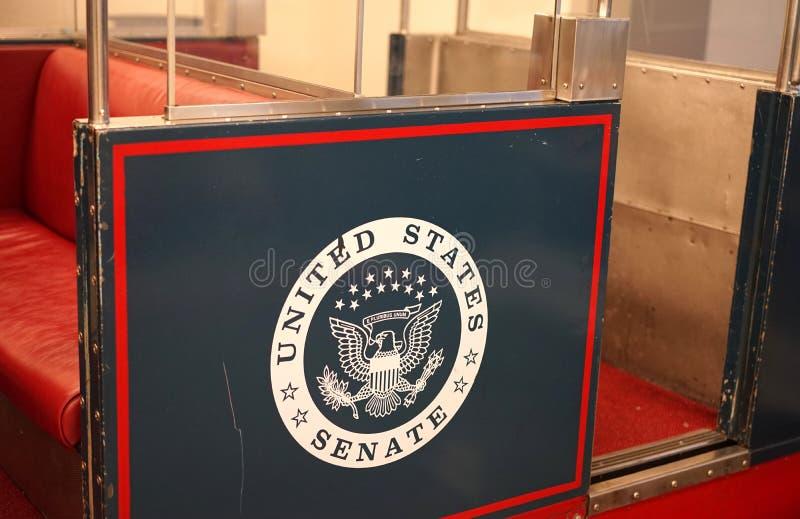 Bonde subterrâneo ao Senado dos E.U. fotos de stock royalty free