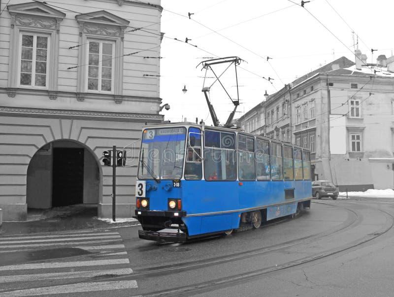 Bonde velho em Krakow imagem de stock