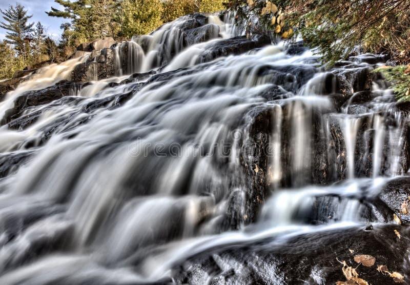 bonden faller michigan nordliga övre vattenfall arkivbilder