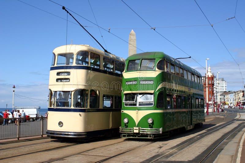 Bondes de Blackpool fotografia de stock royalty free