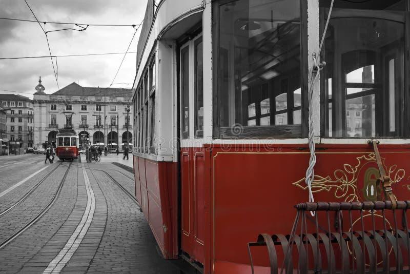 Bondes velhos em Lisboa fotografia de stock royalty free