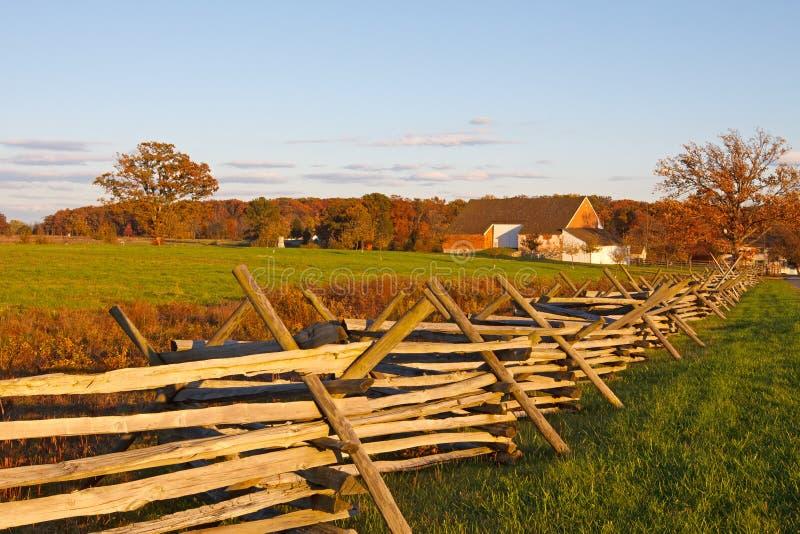 Bondgård på Gettysburg arkivbild