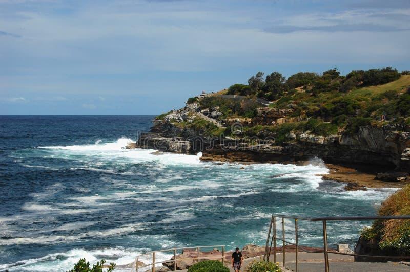 Bondi à la promenade côtière de Coogee, Sydney, Australie images libres de droits