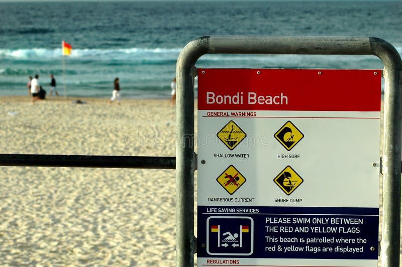 bondi Сидней пляжа стоковая фотография