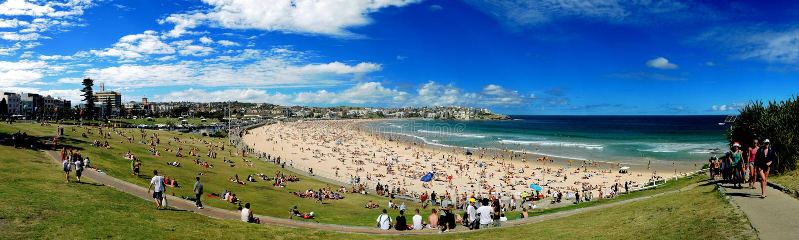 Bondi Beach Panorama stock photography