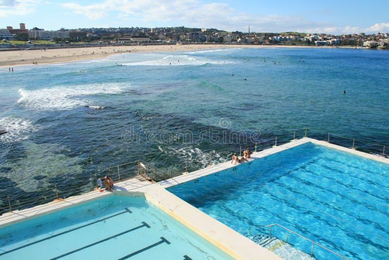 Bondi Beach Pools royalty free stock photos
