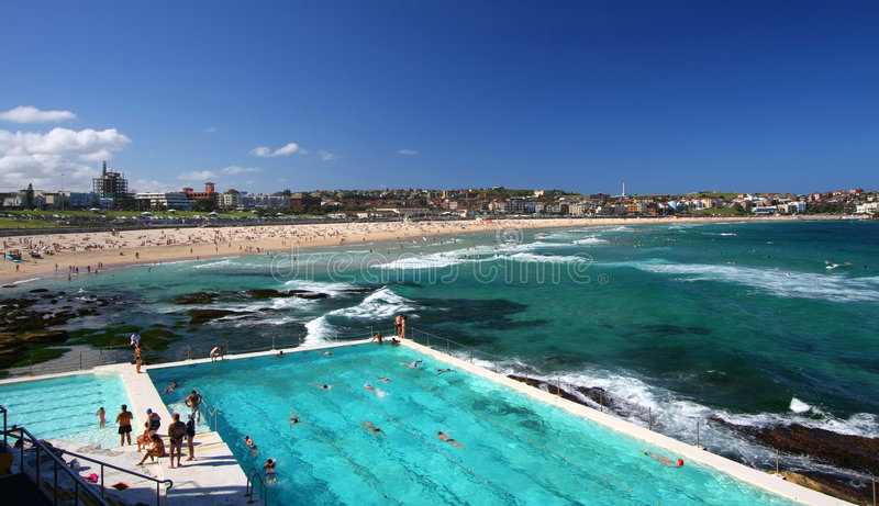 Bondi Beach in Sydney, Australia stock photo