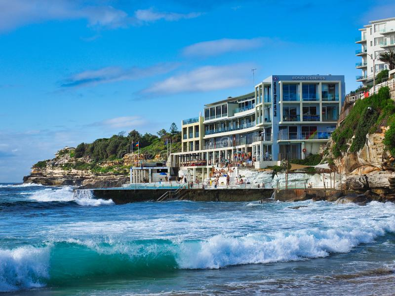 Bondi gór lodowych klub i oceanu basen, Sydney, NSW, Australia obrazy royalty free