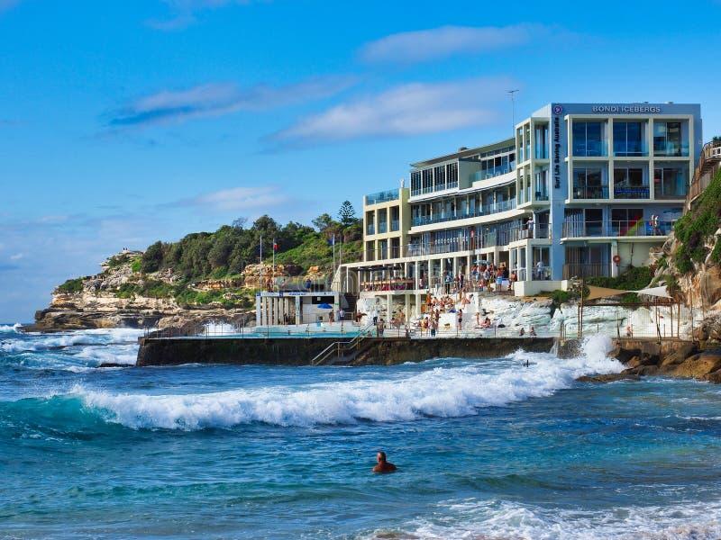 Bondi gór lodowych klub i oceanu basen, Sydney, NSW, Australia obrazy stock