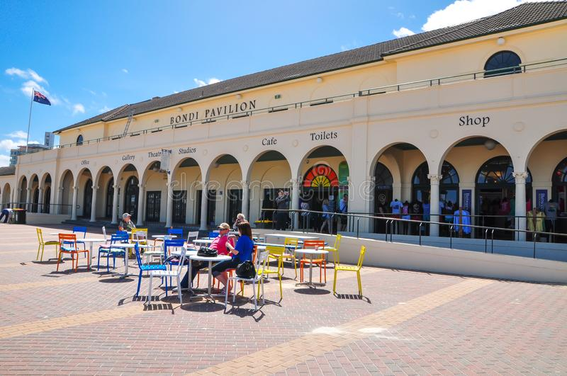 The Bondi Pavilion is an outstanding beach cultural icon and surf lifesaving club. royalty free stock photo