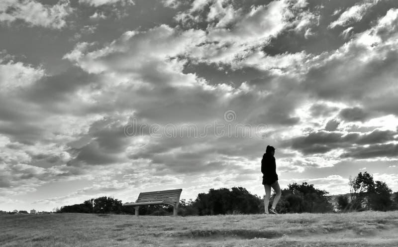 Bondi Plażowa czarno biały fotografia zdjęcie royalty free