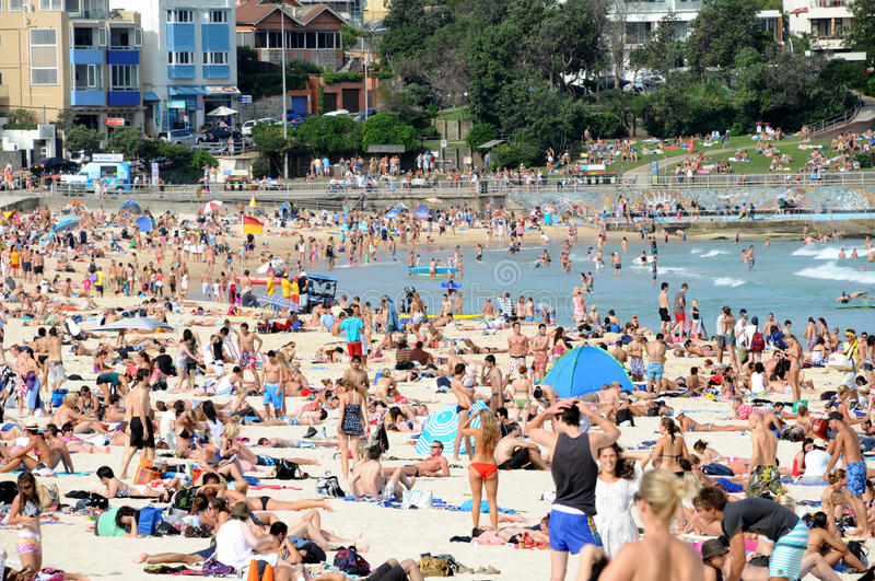 Bondi Strand lizenzfreie stockbilder
