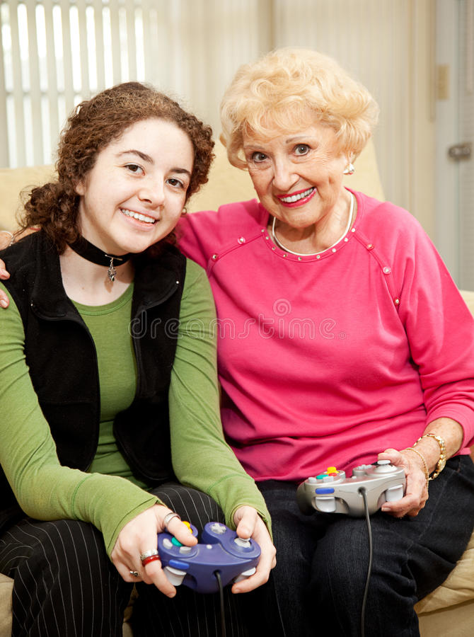 Download Bonding Over Video Games Royalty Free Stock Photos - Image: 9994478