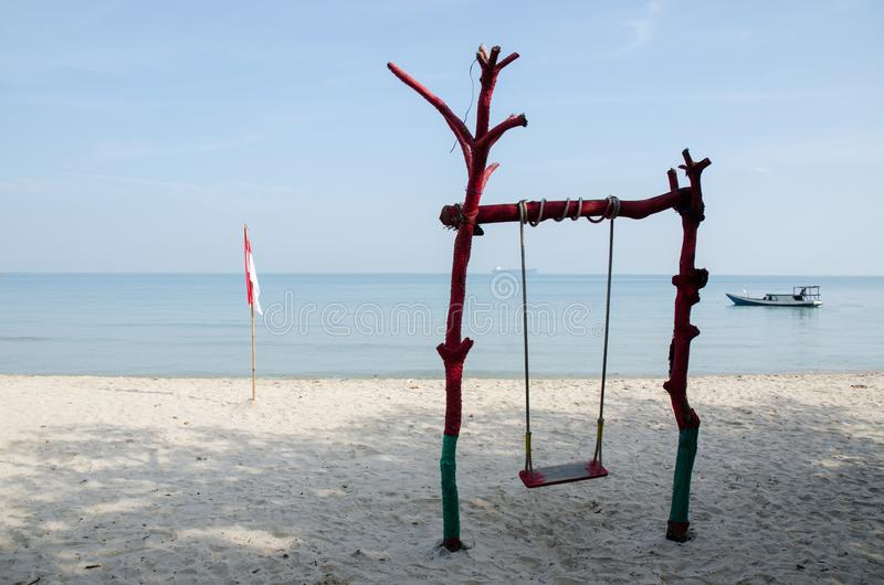 Bondo plaża Jepara obraz royalty free