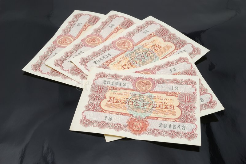 Download Bonds USSR Stock Photography - Image: 6016762