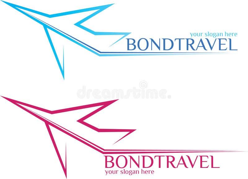 BondTravel -旅行商标 免版税库存图片