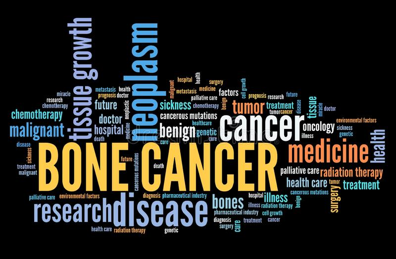 Bone cancer. Serious disease word cloud concept stock illustration