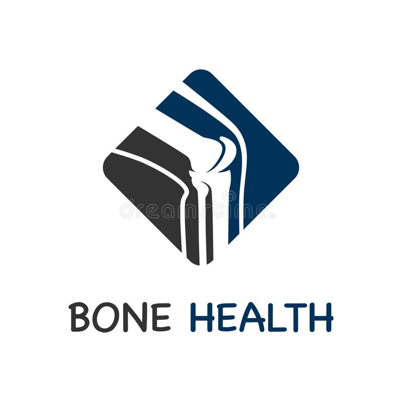 Bone care logo royalty free illustration