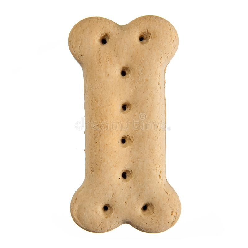 Bone shaped dog biscuit stock images