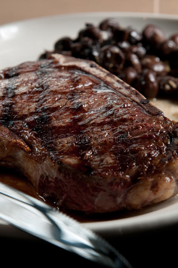 Bone-in strooklapje vlees stock fotografie