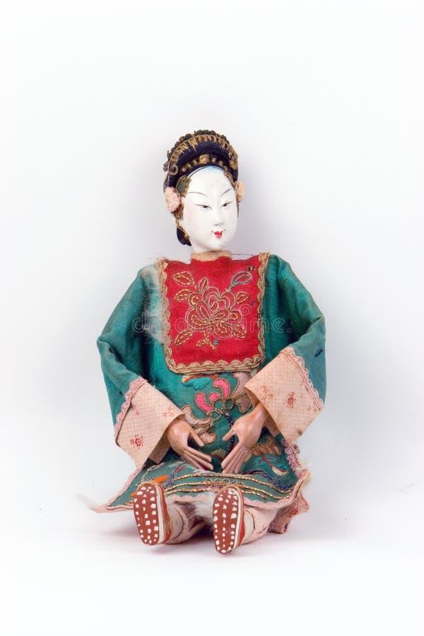 Boneca antiga asiática foto de stock