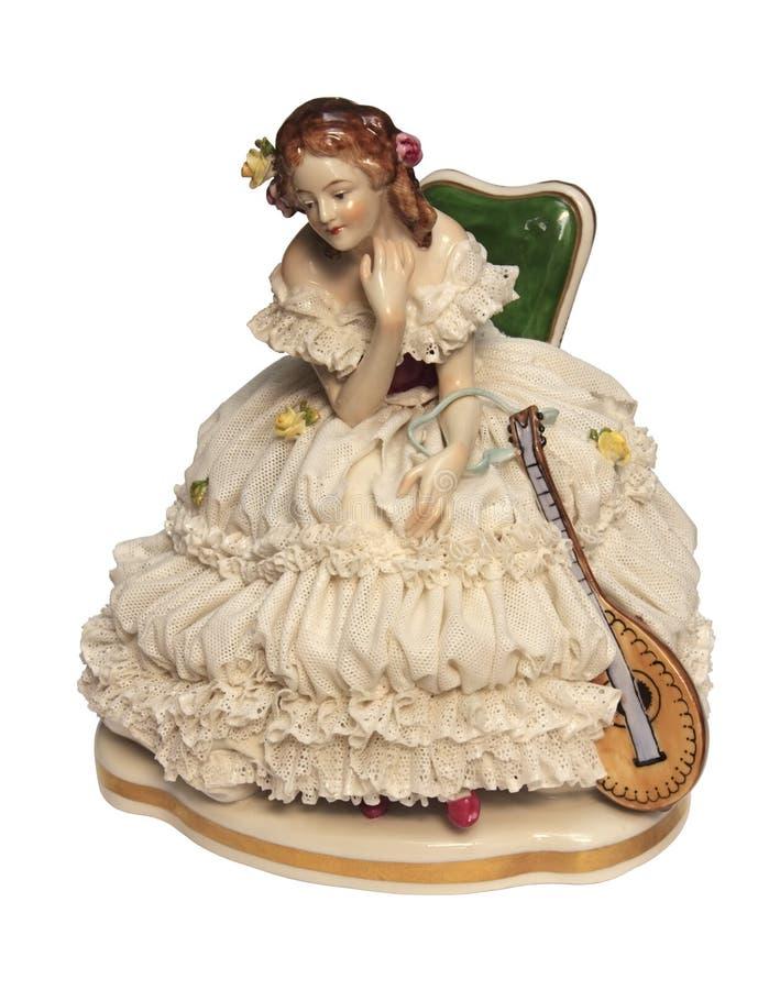 Boneca antiga da porcelana foto de stock royalty free