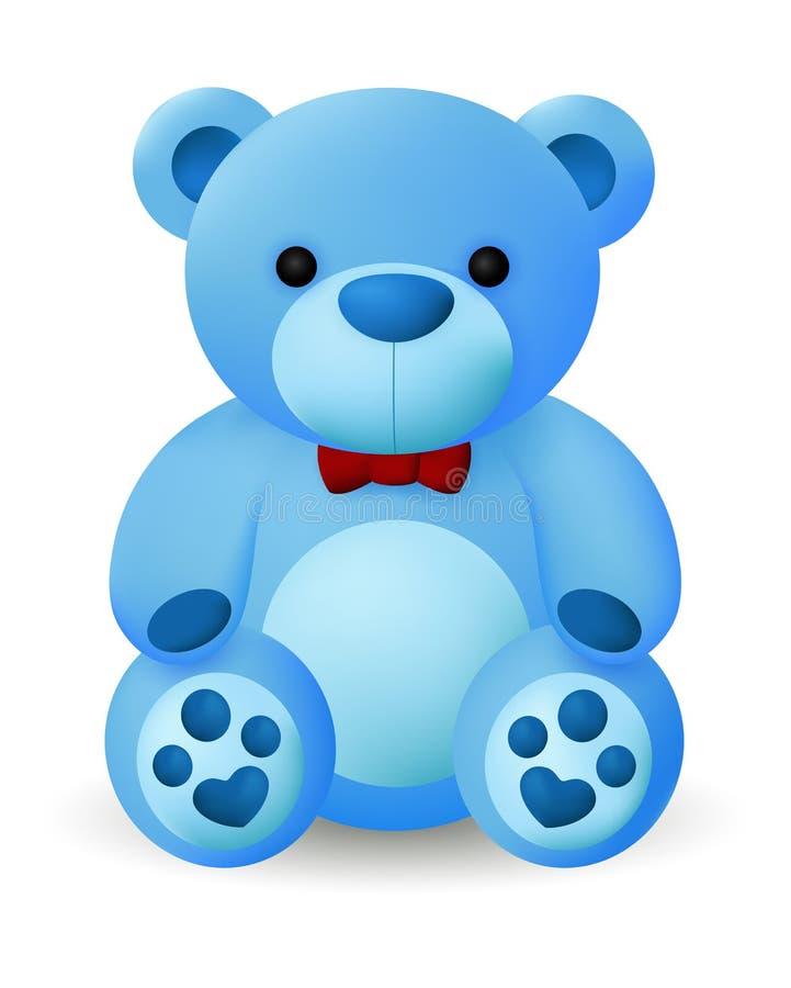 Boneca azul bonito do urso ilustração royalty free