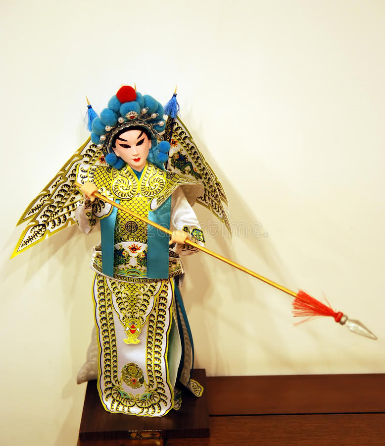 Boneca da ópera de Peking foto de stock